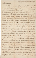 Autographs:Statesmen, Livermore Family Archive consisting of eleven letters spanning 1763to 1843.... (Total: 11 Items)