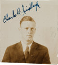 "Autographs:Celebrities, Charles Lindbergh Photograph Signed ""Charles A.Lindbergh.""..."