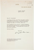 Autographs:U.S. Presidents, Dwight D. Eisenhower Typed Letter Signed as President....