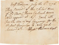 Miscellaneous:Ephemera, [Revolutionary War] and [New York Campaign]. Receipt for CartoucheBoxes....