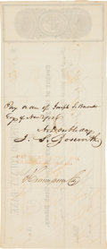 "Autographs:Military Figures, Abner Doubleday Autograph Endorsement Signed ""A. Doubleday""on the verso of an Otsego County Bank check...."