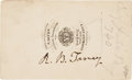 "Photography:CDVs, Roger B. Taney Carte de Visite Signed ""R. B. Taney.""..."