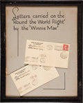 Autographs:Celebrities, Wiley Post and Harold Gatty Flown Covers Signed.... (Total: 2 Items)