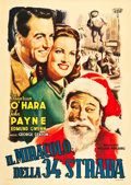 "Movie Posters:Comedy, Miracle on 34th Street (CIA, 1947). Italian 2 - Foglio (39"" X55"").. ..."