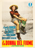 """Movie Posters:Foreign, The River Girl (Minerva, 1955). Italian 2 - Foglio (39"""" X 55""""). Foreign.. ..."""
