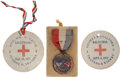 Golf Collectibles:Miscellaneous, 1917 Jerry Travers World War I Golf Memorabilia Lot of 3....