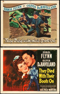 "Movie Posters:Western, They Died with Their Boots On (Warner Brothers, 1941). Title LobbyCard and Lobby Card (11"" X 14"").. ... (Total: 2 Items)"