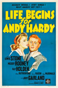 "Movie Posters:Comedy, Life Begins for Andy Hardy (MGM, 1941). One Sheet (27"" X 41"").. ..."