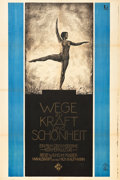 "Movie Posters:Documentary, Ways to Strength and Beauty (UFA, 1925). German (37"" X 56"").. ..."