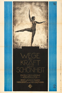 "Ways to Strength and Beauty (UFA, 1925). German (37"" X 56"")"
