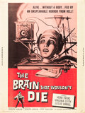 "Movie Posters:Horror, The Brain That Wouldn't Die (American International, 1962). Poster (30"" X 40"").. ..."