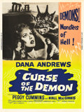 "Movie Posters:Horror, Curse of the Demon (Columbia, 1957). Poster (30"" X 40"").. ..."