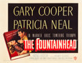 "Movie Posters:Drama, The Fountainhead (Warner Brothers, 1949). Half Sheet (22"" X 28"")....."