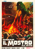 "Movie Posters:Science Fiction, Rodan! The Flying Monster (Ardin, R-1968). Italian 2 - Foglio (39""X 55"").. ..."