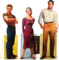 "Movie Posters:Drama, Giant (Warner Brothers, 1956). Standees (3) (Aprrox.average sizes20"" X 70"").. ... (Total: 4 Items)"