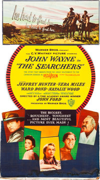 """The Searchers (Warner Brothers, 1956). Standee (32"""" X 57.5"""")"""