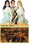 "Movie Posters:Romance, Raintree County (MGM, 1957). Standee (63"" W X 98"" T) and DoorPanels (4) (20"" X 60"") and Set of 3 Picture Frame Portraits (1...(Total: 10 Items)"