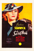 "Movie Posters:Drama, The Secret Bride (Warner Brothers, 1934). One Sheet (27"" X 41"")....."