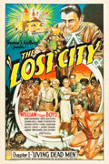 "Movie Posters:Serial, The Lost City (Super Serial Productions, 1935). One Sheet (27"" X41""). Chapter 1 -- ""Living Dead Men."". ..."