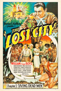 """The Lost City (Super Serial Productions, 1935). One Sheet (27"""" X 41""""). Chapter 1 -- """"Living Dead Men.&quo..."""