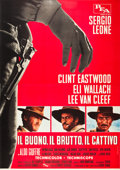 "Movie Posters:Western, The Good, the Bad and the Ugly (PEA, 1966). Italian 4 - Foglio (55""X 78"").. ..."