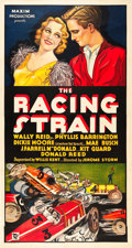 "Movie Posters:Sports, The Racing Strain (Maxim Productions, 1932). Three Sheet (41"" X81"").. ..."