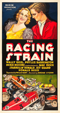 "The Racing Strain (Maxim Productions, 1932). Three Sheet (41"" X 81"")"