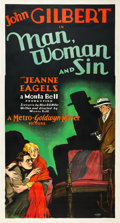 "Movie Posters:Drama, Man, Woman and Sin (MGM, 1927). Three Sheet (41"" X 81"").. ..."