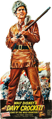 "Davy Crockett, King of the Wild Frontier (Buena Vista, 1955). Standee (35.5"" X 82""). ... (Total: 2 Items)"