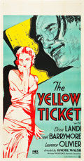 "Movie Posters:Drama, The Yellow Ticket (Fox, 1931). Three Sheet (41"" X 81"").. ..."