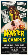 "Movie Posters:Horror, Monster on the Campus (Universal International, 1958). Three Sheet(41"" X 81"").. ..."