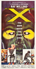 "Movie Posters:Science Fiction, X - The Man with the X-Ray Eyes (American International, 1963).Three Sheet (41"" X 79""). Science Fiction.. ..."
