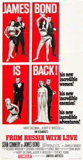 "Movie Posters:James Bond, From Russia with Love (United Artists, 1964). Three Sheet (41"" X81"") Style B.. ..."
