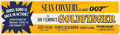 "Movie Posters:James Bond, Goldfinger (United Artists, 1964). Banner (24"" X 82"").. ..."