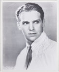 """Autographs:Celebrities, Douglas Fairbanks, Jr. Inscribed Photograph. 8"""" x 10"""". Black andwhite. A print of an early publicity photograph inscribed b..."""
