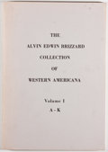 Books:Books about Books, [Western Americana]. The Alvin Edwin Brizzard Collection of Western Americana, Volumes I and II. Los Angeles: The Lo... (Total: 2 Items)