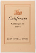 Books:Books about Books, [California]. John Howell Books. California, Catalogue 50, PartsI-V, The Library of Jennie Crocker Henderson. San F... (Total:5 Items)