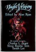 Books:Science Fiction & Fantasy, Gregory Manchess [illustrator]. Alan Ryan [editor]. Night Visions 1. Niles: Dark Harvest, 1984. First edition, lim...