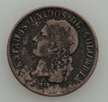 Colombia, Colombia: Medellin 20 Centavo 1876 Study Lot,... (Total: 15 coins)