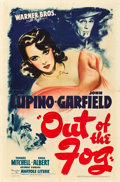 "Movie Posters:Crime, Out of the Fog (Warner Brothers, 1941). MP Graded One Sheet (27"" X41"").. ..."