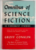 Books:Science Fiction & Fantasy, [Jerry Weist]. Groff Conklin, editor. Omnibus of ScienceFiction. New York: Crown Publishers, 1952. First editio...