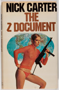 Books:Mystery & Detective Fiction, Nick Carter. The Z Document. London: Allan Wingate, 1978.First English edition. Octavo. 169 pages. Publisher's ...