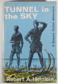 Books:Science Fiction & Fantasy, [Jerry Weist]. Robert A. Heinlein. Tunnel in the Sky. London: Victor Gollancz Ltd., 1965. First English edition....