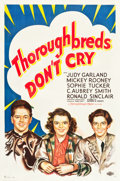 """Movie Posters:Comedy, Thoroughbreds Don't Cry (MGM, 1937). One Sheet (27"""" X 41"""") StyleD.. ..."""