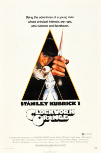 "A Clockwork Orange (Warner Brothers, 1971). One Sheet (27"" X 41"") X Rated Style"