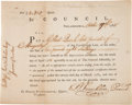 "Autographs:Statesmen, Benjamin Franklin Interest Certificate Signed ""B. Franklin""as President of the Supreme Executive Council of Pennsylvani..."