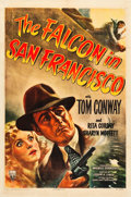 "Movie Posters:Mystery, The Falcon in San Francisco (RKO, 1945). One Sheet (27"" X 41"")....."