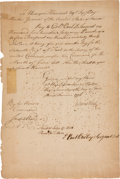 Miscellaneous:Ephemera, [Revolutionary War]. Regimental Pay Warrant to Colonel Paul DudleySargent of the 16th Regiment of Foot (16th Continental ...