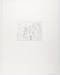 Books:Prints & Leaves, Adnan Charara. SIGNED/ARTIST PROOF. Etching of an Abstract Man andWoman. [n. d., ca. 1990] Signed by Charara below imag...