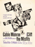 "Movie Posters:Drama, The Misfits (United Artists, 1961). Poster (30"" X 40"").. ..."